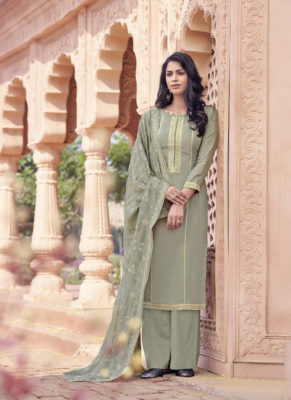 Dial N Fashion Light Brown Designer Viscose Musline Casual Wear Salwar Suit