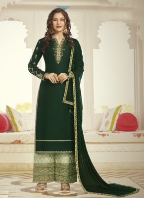 Dial N Fashion Dark Grey Designer Party Wear Plazzo Style Salwar Suit