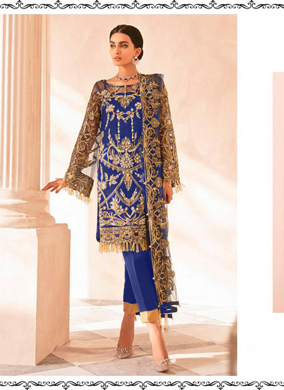 Dial N Fashion Blue Heavy Designer Party Wear Salwar Suit