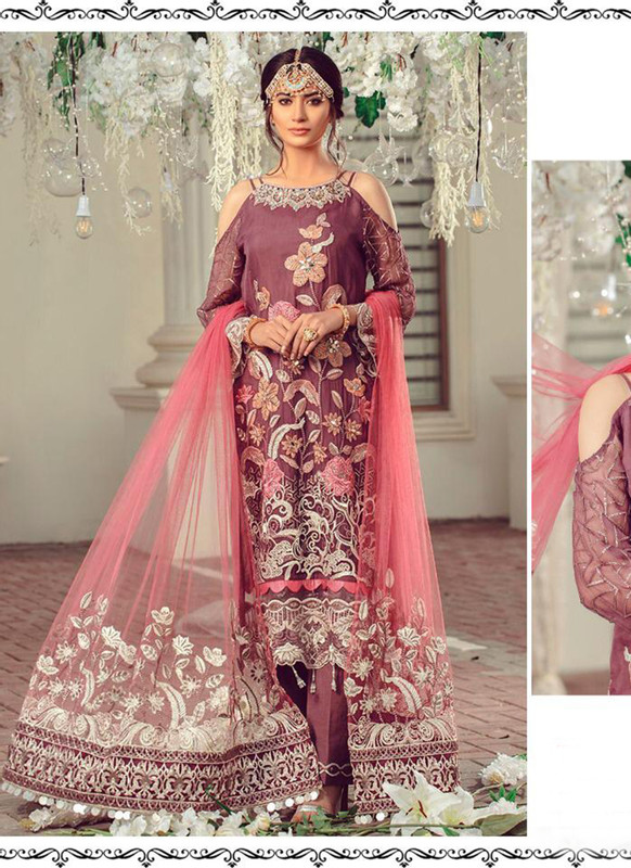 Dial N Fashion Maroon Heavy Designer Party Wear Salwar Suit