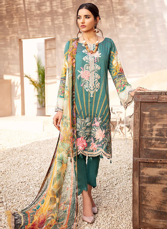 Dial N Fashion Green Designer Pakistani Style Salwar Suit