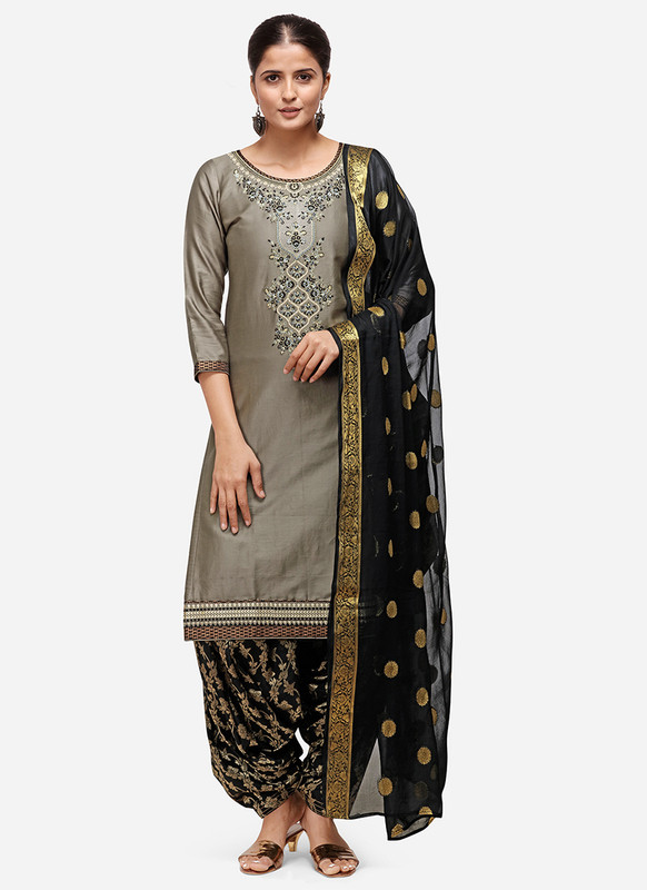 Dial N Fashion Grey Latest Designer Party Wear Salwar Suit