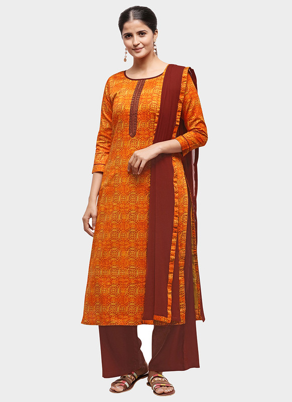 Dial N Fashion Orange Latest Designer Party Wear Salwar Suit