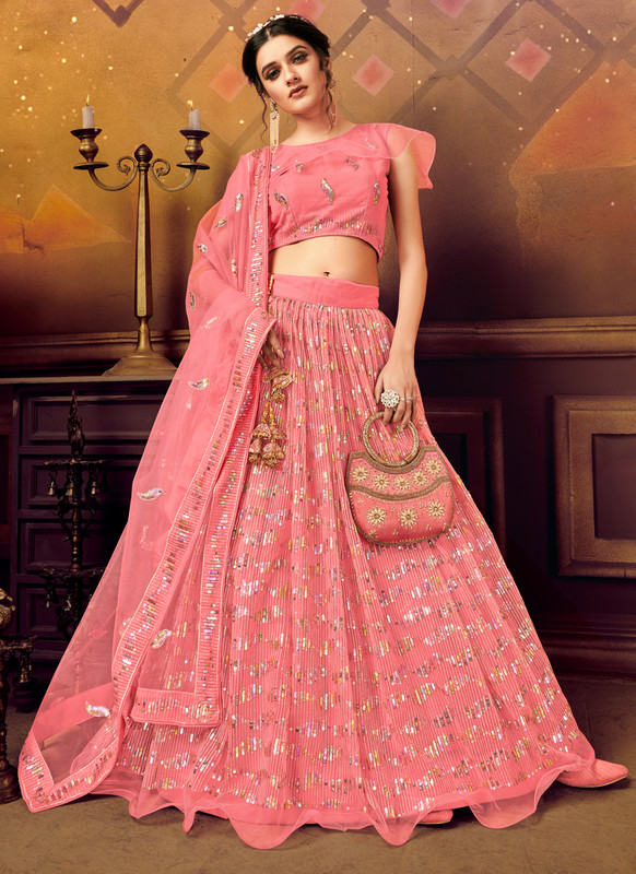 Dial N Fashion PInk Panvi Designer Party Wear Lehenga Choli