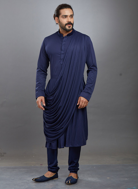Dial N Fashion Navy Blue Readymade Kurta Pajama