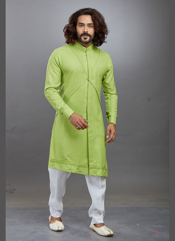 Dial N Fashion Light Green Readymade Kurta Pajama