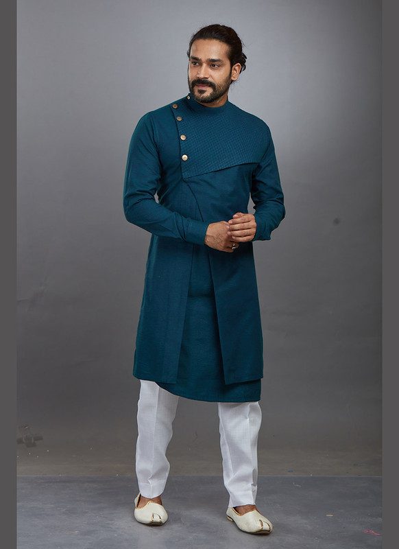 Dial N Fashion Green Readymade Kurta Pajama