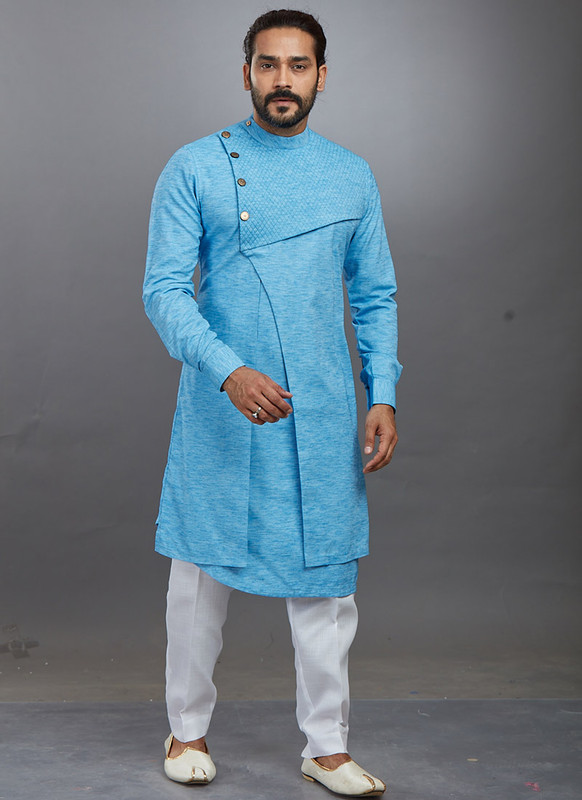Dial N Fashion Sky Blue Readymade Kurta Pajama