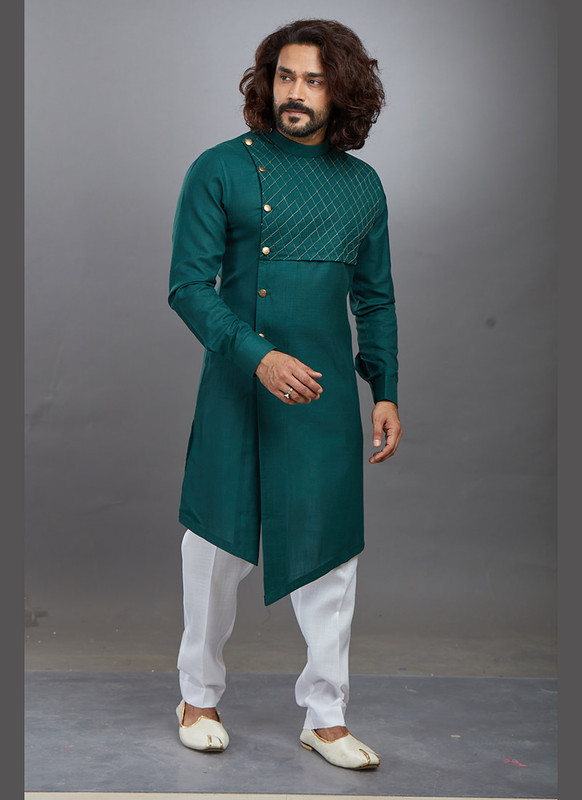 Dial N Fashion Bottle Green Readymade Kurta Pajama
