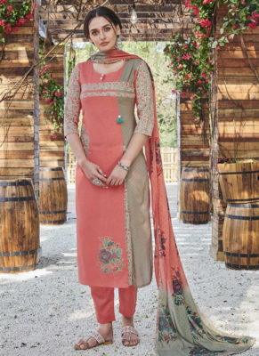 Dial N Fashion Grey Designer Readymade Party Wear Salwar Suit