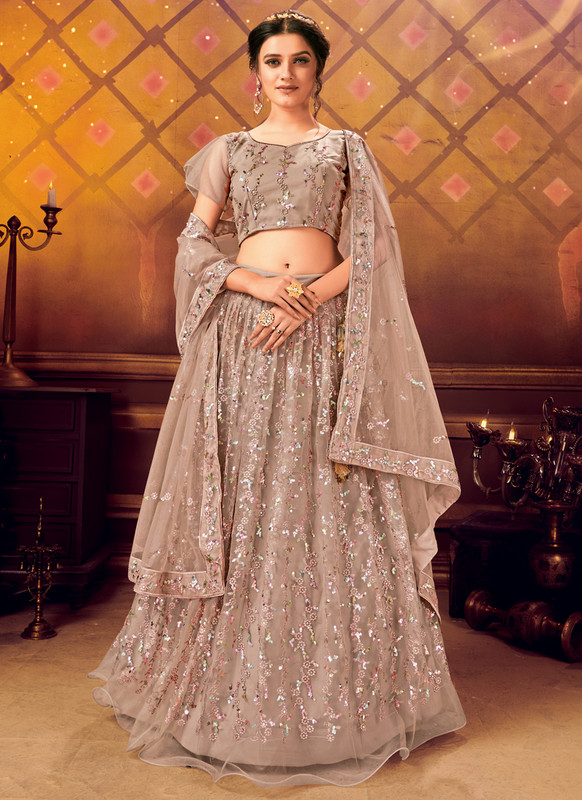 Dial N Fashion Brown Panvi Designer Party Wear Lehenga Choli