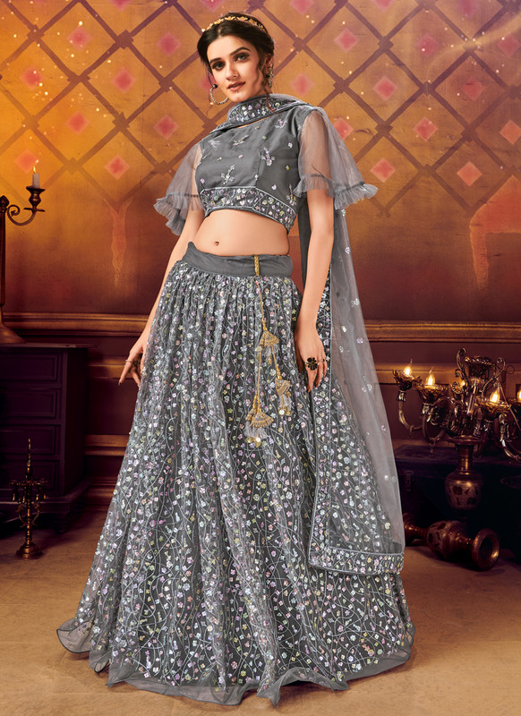 Dial N Fashion Black Panvi Designer Party Wear Lehenga Choli