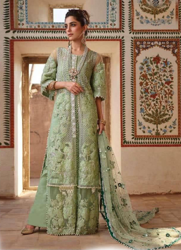 Dial N Fashion Sea Green Designer Party Wear Pakistani Style Salwar Suit
