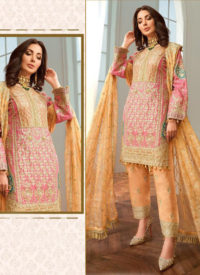 Dial N Fashion Red Designer Heavy Foux Georgette Pakistani Style Suit