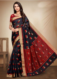 Dial N Fashion Purple Designer Classic Wear Patola Silk Saree