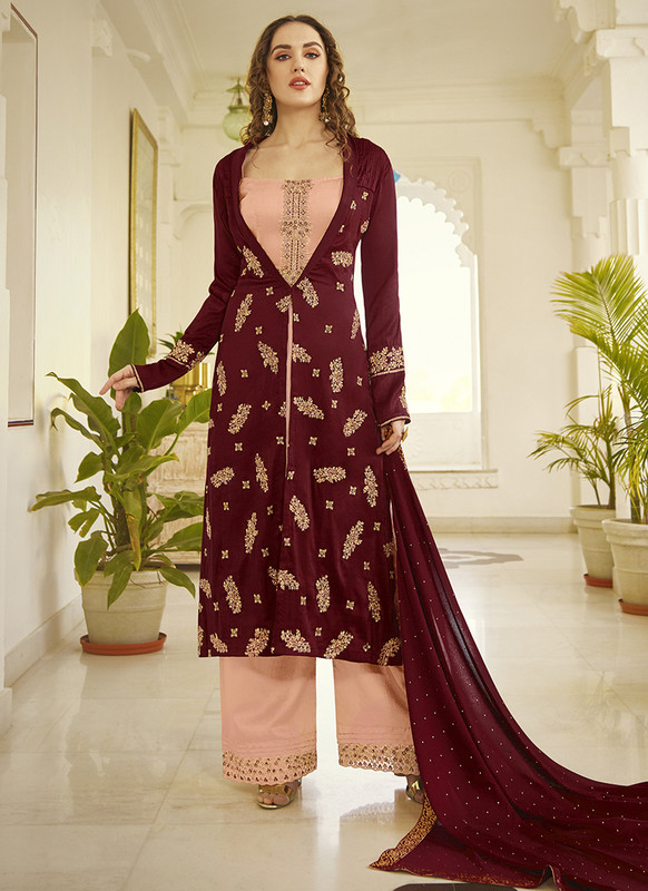 Dial N Fashion Sampann Samreen Pretty Designer Palazzo Pants Suit
