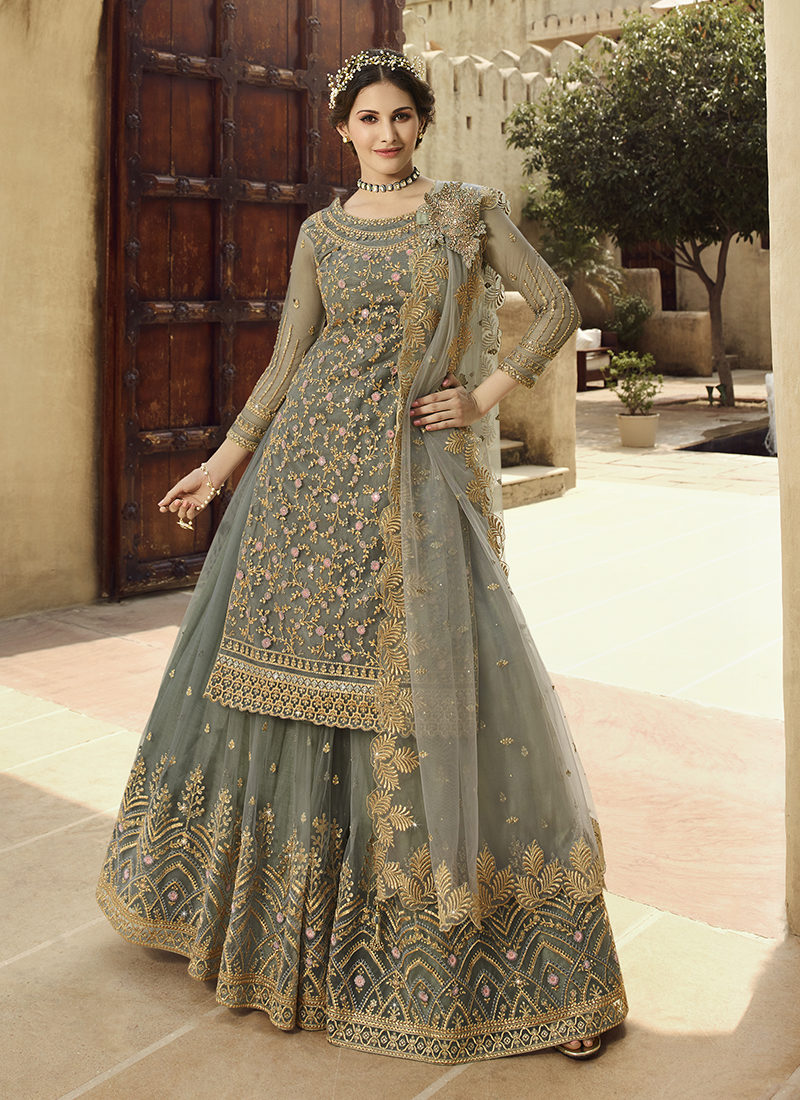 Glossy Amyra Shaivi Beautiful Designer Wedding Wear Suit