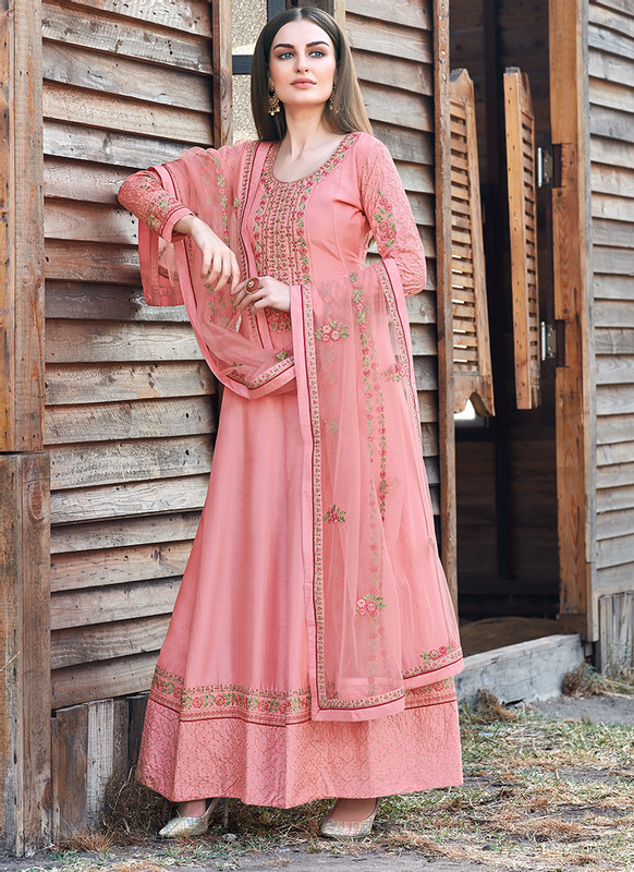 Bella Kashish Pink Designer Party Wear Salwar Kameez