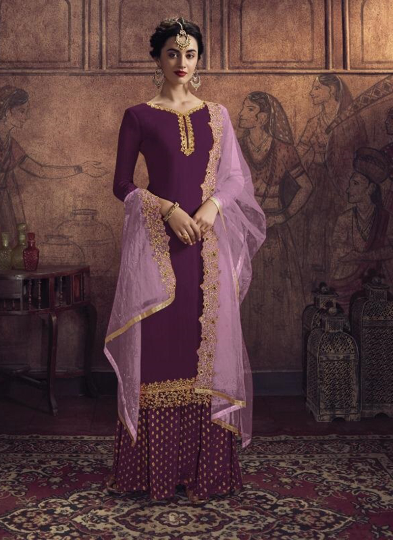 Dial N Fashion Designer Party Wear Maroon Pakistani Salwar Suit
