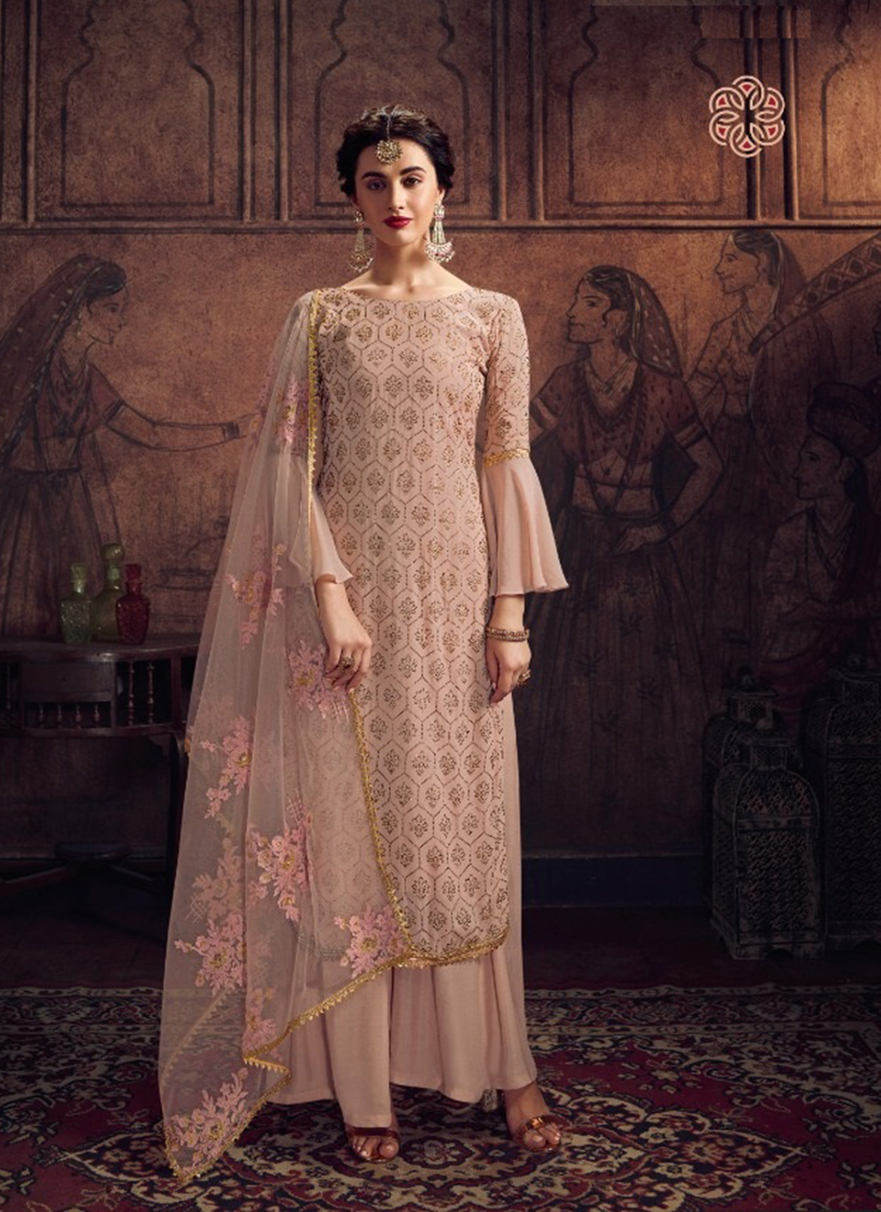 Dial N Fashion Designer Party Wear Pink Pakistani Salwar Suit