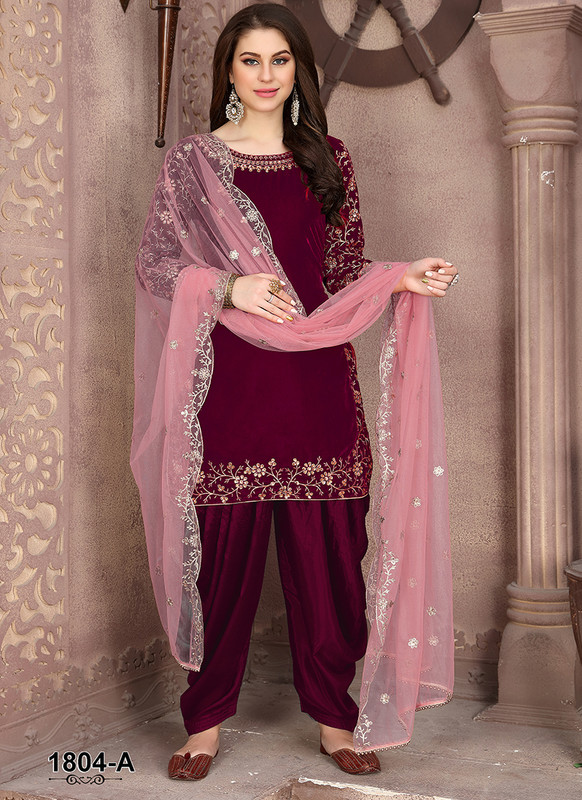 Dial N Fashion Anaya Red Stunning Party Wear Salwar Kameez
