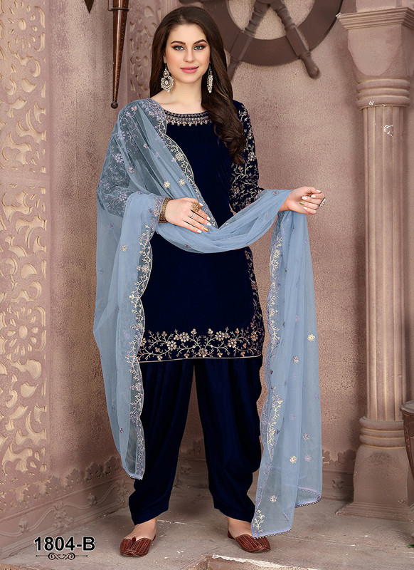 Dial N Fashion Anaya Blue Graceful Party Wear Salwar Kameez