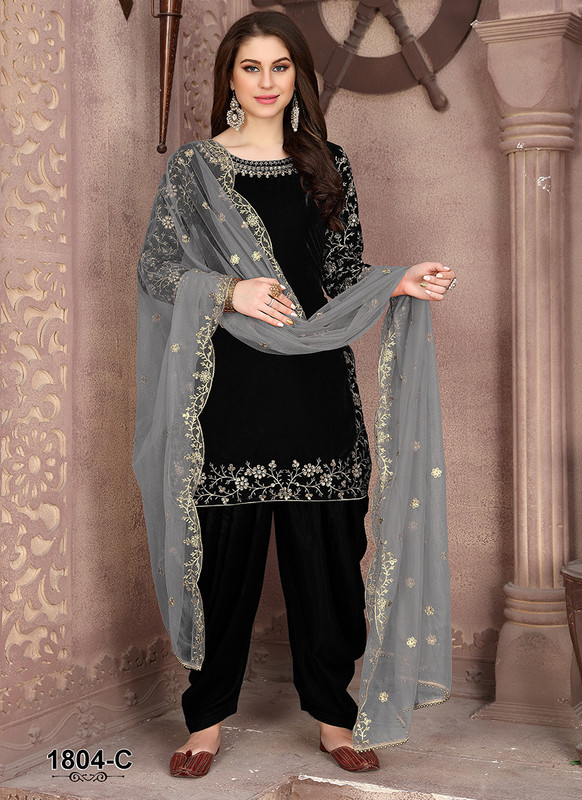 Dial N Fashion Anaya Black Elegent Party Wear Salwar Kameez