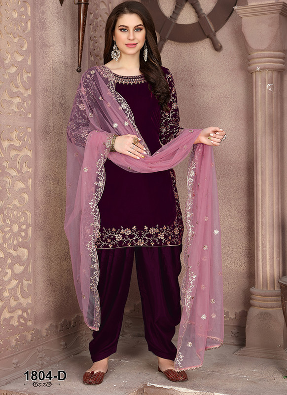 Dial N Fashion Anaya Maroon Ravishing Party Wear Salwar Kameez