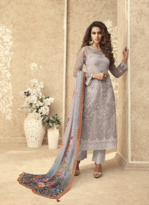 Zoya Grace Designer Light Green Color Suit with Floral Dupatta