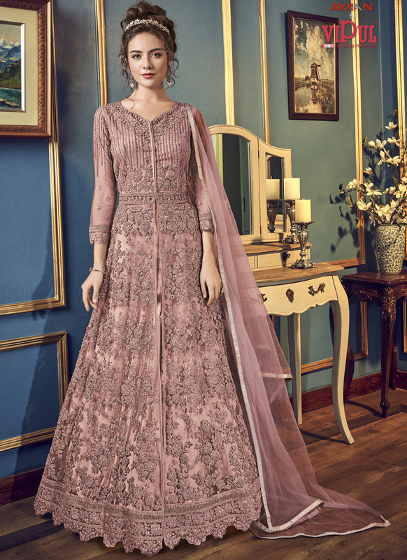 Dial N Fashion Pink Vipul Designer Party Wear Gown