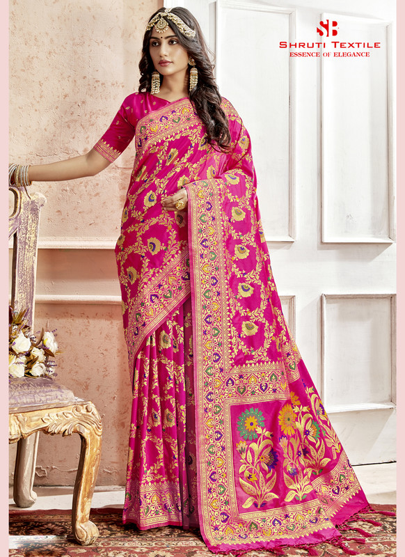 Dial N Fashion Shruti Shubharambh Pretty Wedding Saree