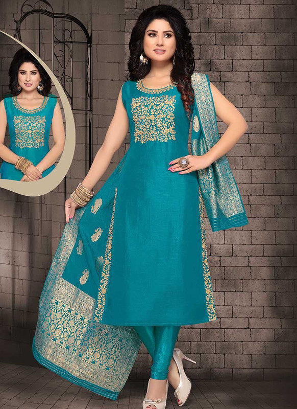 Dial N Fashion Green  Designer Party Wear Readymade Suits