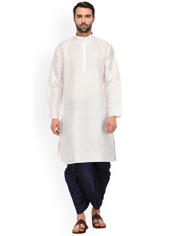Dial N Fashion White  Readymade Dhoti Kurta