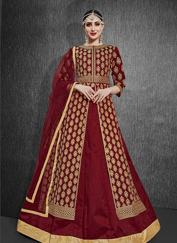Dial N Fashion   Heavy Designer Indo Western Heavy Silk Suit