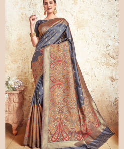 Dial N Fashion Blue  Designer Party Wear Weaving Silk Saree