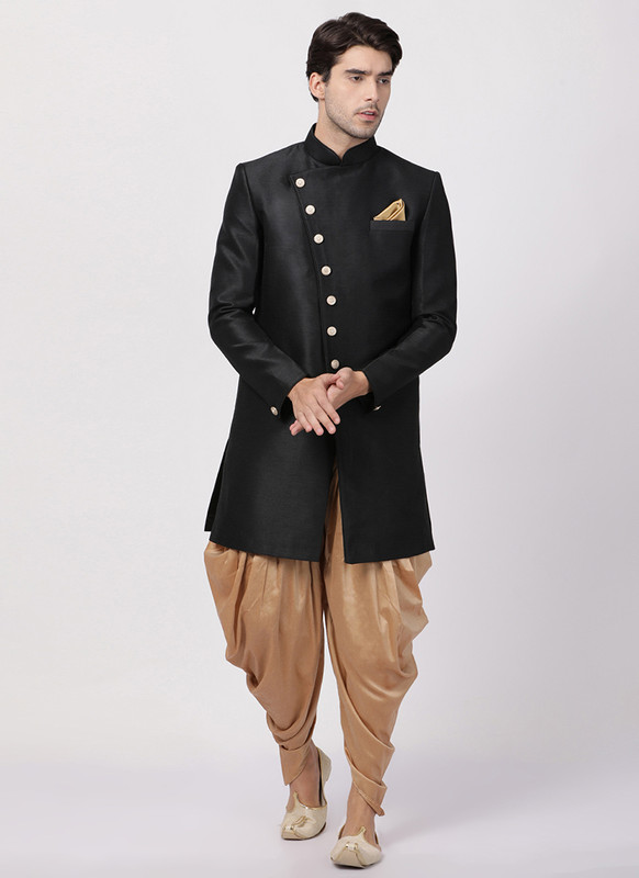 Dial N Fashion Black  Readymade Designer Sherwani