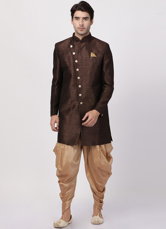 Dial N Fashion Brown  Readymade Designer Sherwani