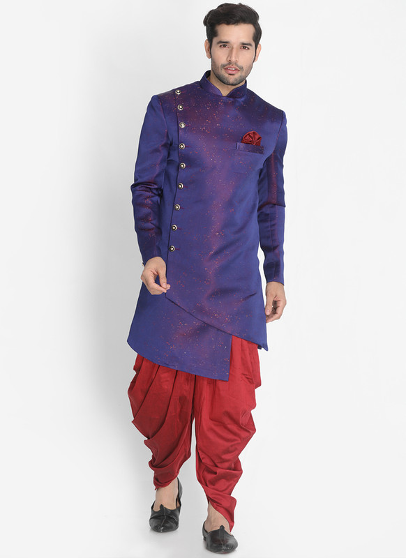 Dial N Fashion Blue  Readymade Designer Sherwani