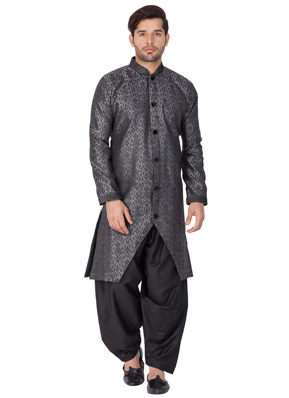 Dial N Fashion Grey  Readymade Designer Sherwani