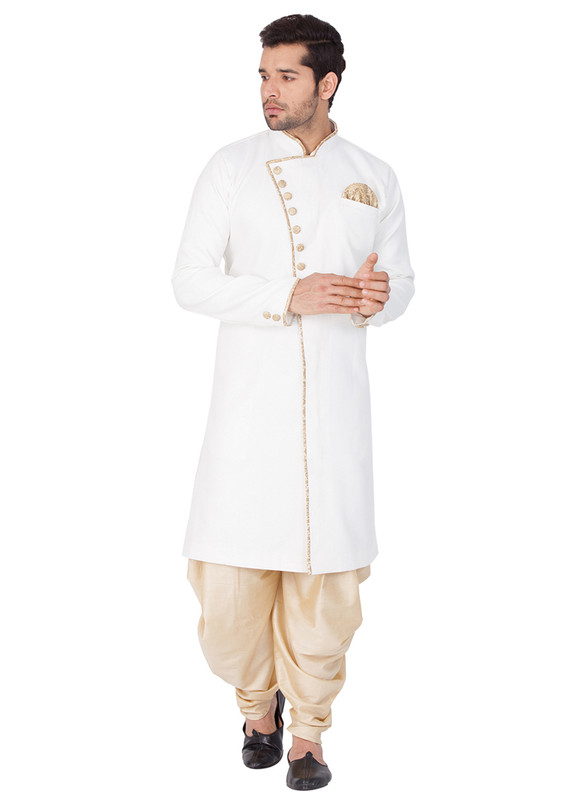 Dial N Fashion White  Readymade Designer Sherwani