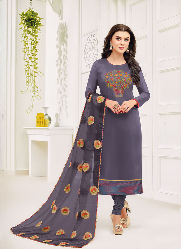 Dial N Fashion Blue Fancy Designer Party Wear Salwar Suit
