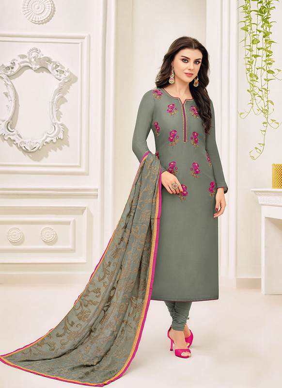 Dial N Fashion Grey Fancy Designer Party Wear Salwar Suit