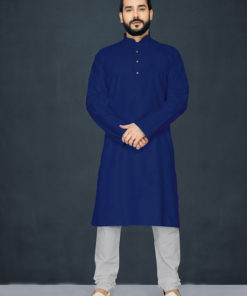 Dial N Fashion Navy Blue Readymade Kurta Payjama