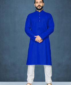 Dial N Fashion Royal Blue Readymade Kurta Payjama