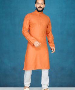 Dial N Fashion Orange Readymade Kurta Payjama