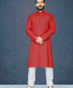 Dial N Fashion Red Readymade Kurta Payjama