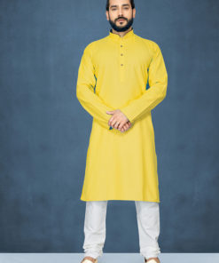 Dial N Fashion Yellow Readymade Kurta Payjama