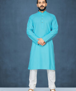Dial N Fashion Sky Blue Readymade Kurta Payjama