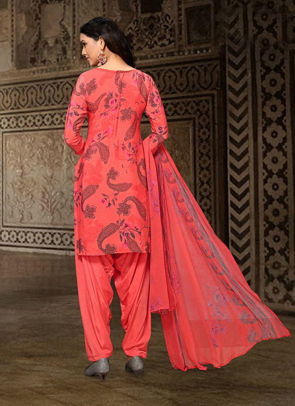Dial N Fashion Red  Designer Party Wear Salwar Suit