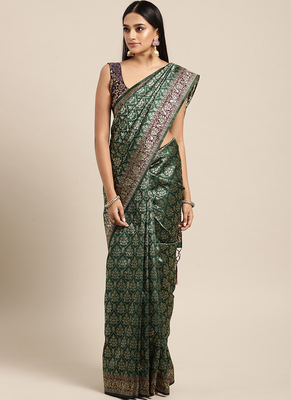 Dial N Fashion Green  Designer Classic Party Wear Saree